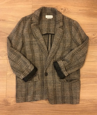 The blazer. This particular blazer is Isabel Marant Étoile, but any classic blazer would do. The boyfriend blazer style is trending now and is the style of the blazer pictured.