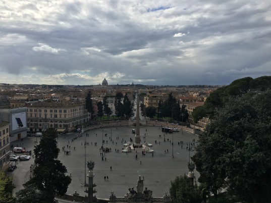 The view from Villa Borghese gardens.