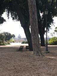 The Villa Borghese Gardens.