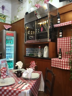 The little pizzeria we ate at in Naples.