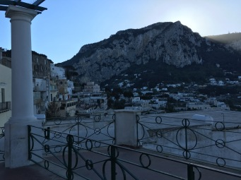The view from the city center of Capri.