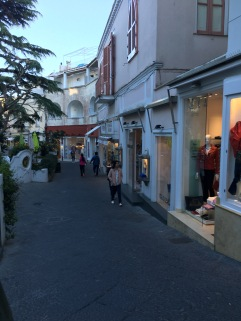 Boutiques that line the streets of Capri.